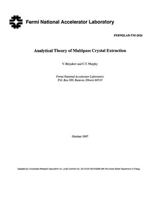 Primary view of object titled 'Analytical theory of multipass crystal extraction'.