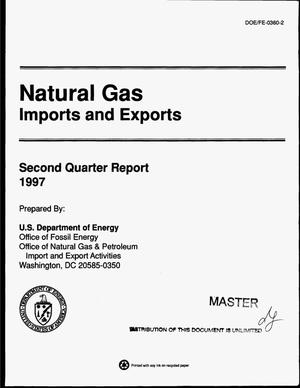 Primary view of object titled 'Natural gas imports and exports. Second quarter report'.
