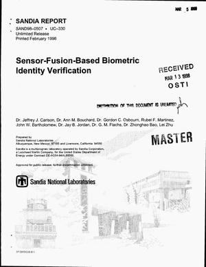 Primary view of object titled 'Sensor-fusion-based biometric identity verification'.