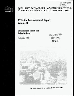 Primary view of object titled '1996 Site environmental report. Volume II'.