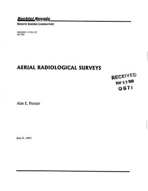 Primary view of object titled 'AERIAL RADIOLOGICAL SURVEYS'.