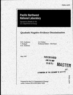 Primary view of object titled 'Quadratic negative evidence discrimination'.