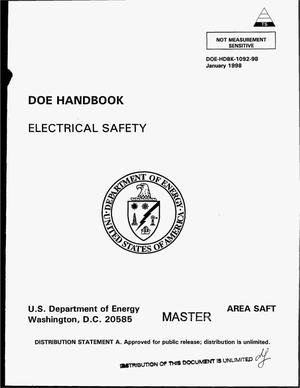 Primary view of object titled 'DOE handbook electrical safety'.