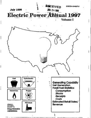 Primary view of object titled 'Electric power annual 1997. Volume 1'.