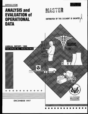 Primary view of object titled 'Office for Analysis and Evaluation of Operational Data 1996 annual report. Volume 10, Number 3: Technical training'.