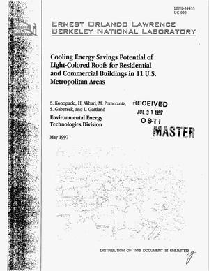 Primary view of object titled 'Cooling energy savings potential of light-colored roofs for residential and commercial buildings in 11 US metropolitan areas'.