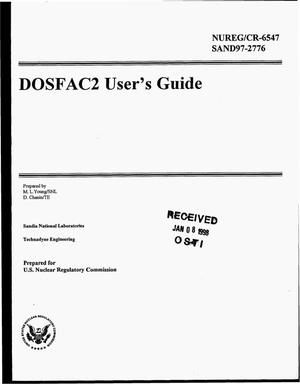 Primary view of object titled 'DOSFAC2 user`s guide'.