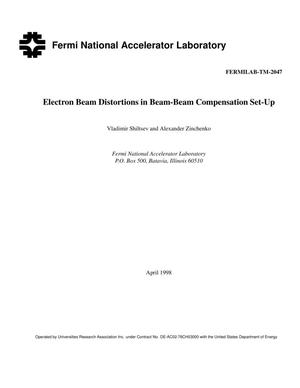 Primary view of object titled 'Electron beam distortions in beam-beam compensation set-up'.