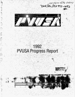 Primary view of object titled '1992 PVUSA progress report'.
