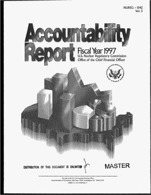 Primary view of object titled 'Accountability report - fiscal year 1997'.