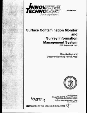 Primary view of object titled 'Surface Contamination Monitor and Survey Information Management System'.