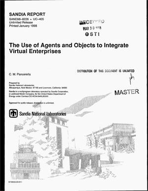 Primary view of object titled 'The use of agents and objects to integrate virtual enterprises'.