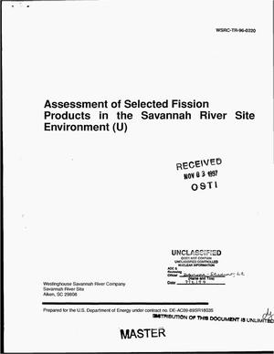 Primary view of object titled 'Assessment of selected fission products in the Savannah River Site environment'.