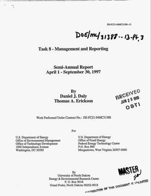 Primary view of object titled 'Task 8 -- Management and reporting. Semi-annual report, April 1--September 30, 1997'.
