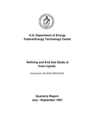 Primary view of object titled 'Refining and End Use Study of Coal Liquids.'.