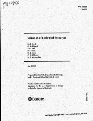 Primary view of object titled 'Valuation of ecological resources'.