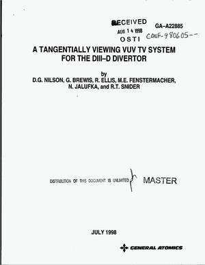 Primary view of object titled 'A tangentially viewing VUV TV system for the DIII-D divertor'.