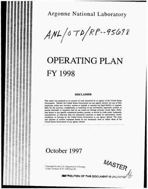 Primary view of object titled 'Operating plan FY 1998'.