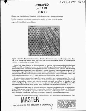 Primary view of object titled 'Numerical simulation of realistic high-temperature superconductors'.