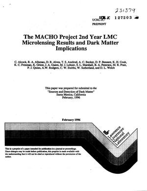 Primary view of object titled 'MACHO project 2nd year LMC microlensing results and dark matter implications'.