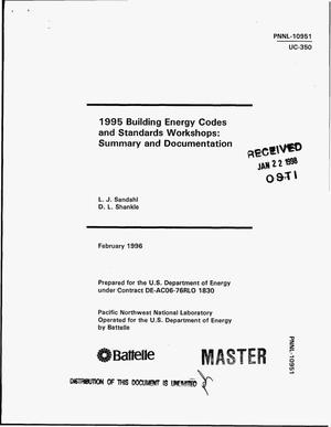 Primary view of object titled '1995 building energy codes and standards workshops: Summary and documentation'.