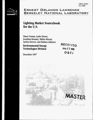 Primary view of object titled 'Lighting market sourcebook for the US'.
