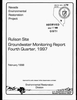 Primary view of object titled 'Rulison Site groundwater monitoring report. Fourth quarter, October 1997--December 1997'.
