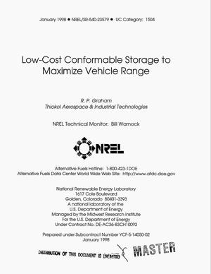 Primary view of object titled 'Low-cost conformable storage to maximize vehicle range'.