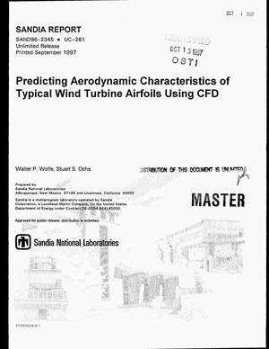 Primary view of object titled 'Predicting aerodynamic characteristic of typical wind turbine airfoils using CFD'.