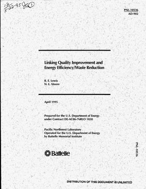 Primary view of object titled 'Linking quality improvement and energy efficiency/waste reduction'.
