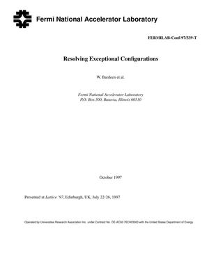 Primary view of object titled 'Resolving exceptional configurations'.