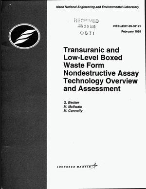 Primary view of object titled 'Transuranic and Low-Level Boxed Waste Form Nondestructive Assay Technology Overview and Assessment'.