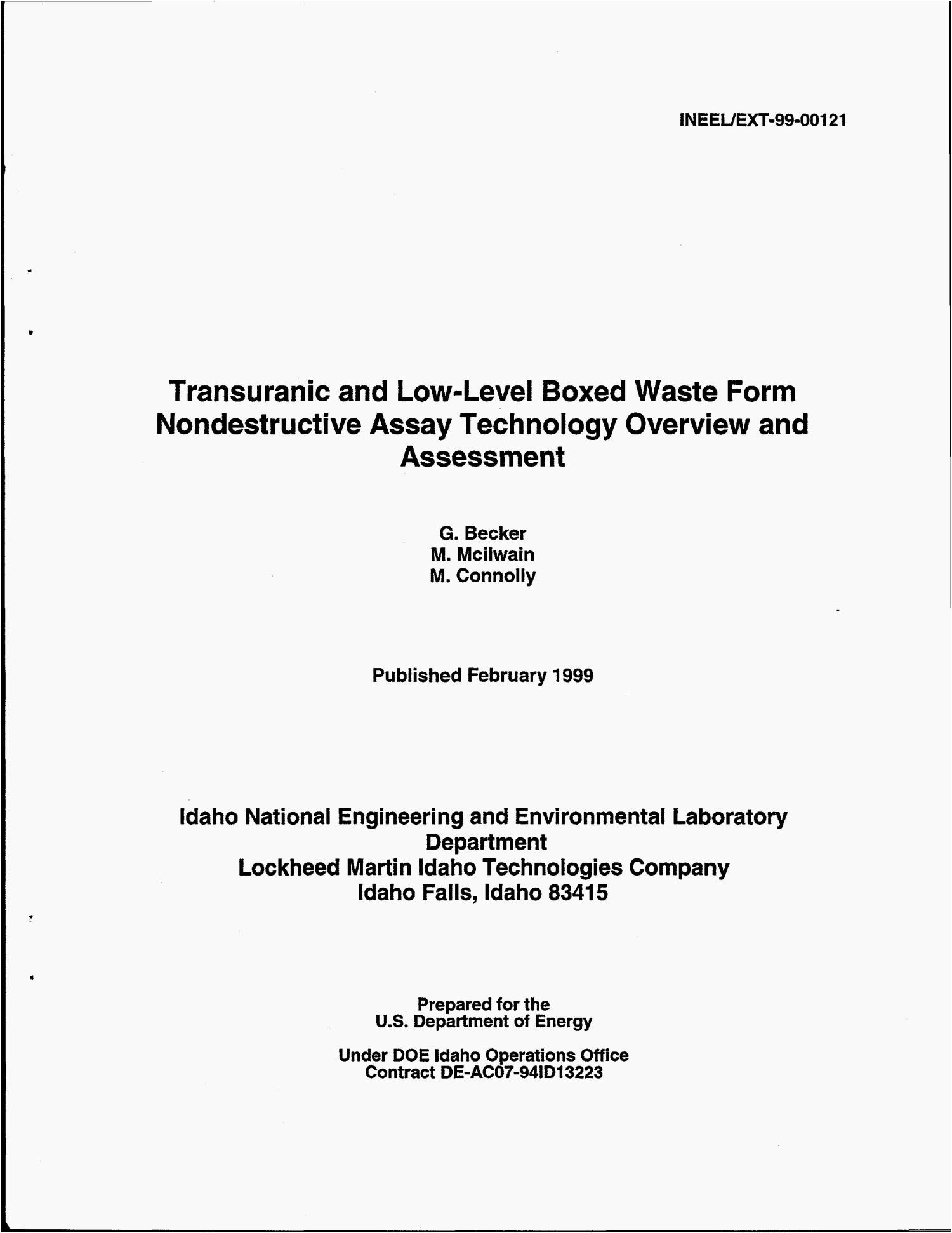 Transuranic and Low-Level Boxed Waste Form Nondestructive Assay Technology Overview and Assessment                                                                                                      [Sequence #]: 4 of 115