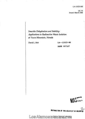 Primary view of object titled 'Smectite dehydration and stability: Applications to radioactive waste isolation at Yucca Mountain, Nevada'.
