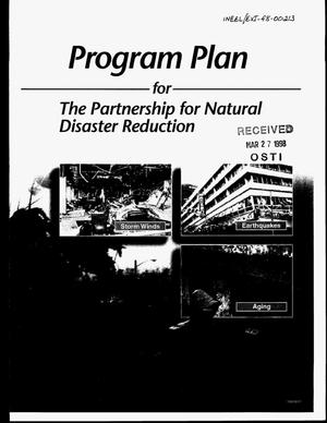 Primary view of object titled 'Program plan for the partnership for natural disaster reduction. Rev 0'.