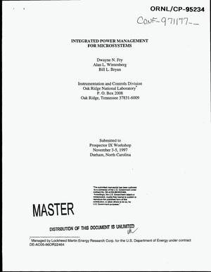 Primary view of object titled 'Integrated power management for microsystems'.