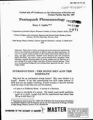 Primary view of object titled 'Pentaquark phenomenology'.