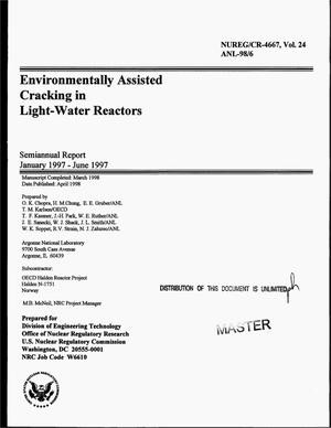 Primary view of object titled 'Environmentally assisted cracking in light-water reactors: Semi-annual report, January--June 1997. Volume 24'.