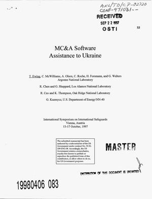 Primary view of object titled 'MC and A software assistance to Ukraine'.