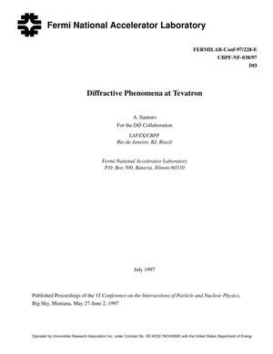 Primary view of object titled 'Diffractive phenomena at Tevatron'.