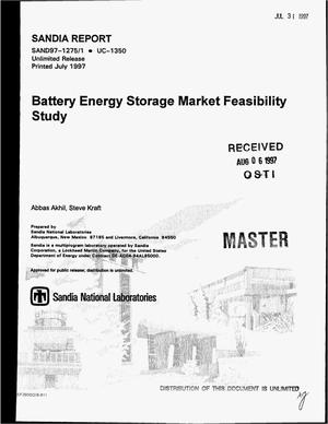 Primary view of object titled 'Battery energy storage market feasibility study'.