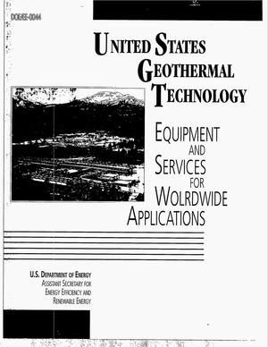 Primary view of object titled 'United States geothermal technology: Equipment and services for worldwide applications'.