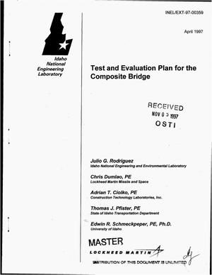 Primary view of object titled 'Test and evaluation plan for the composite bridge'.