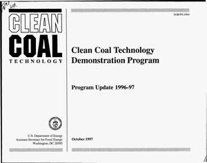 Primary view of object titled 'Clean coal technology demonstration program: Program update 1996-97'.