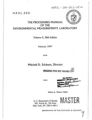 Primary view of object titled 'The procedures manual of the Environmental Measurements Laboratory. Volume 2, 28. edition'.