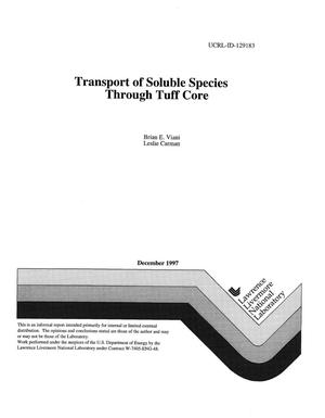 Primary view of object titled 'Transport of soluble species through tuff core'.
