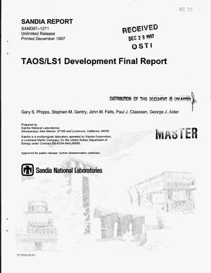 Primary view of object titled 'TAOS/LS1 development final report'.