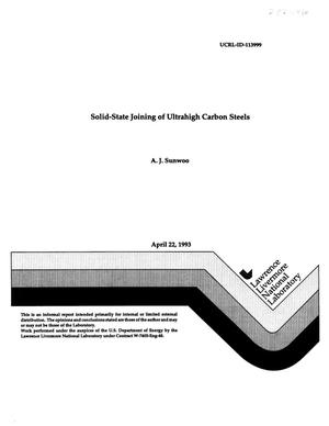 Primary view of object titled 'Solid-state joining of ultrahigh carbon steels'.