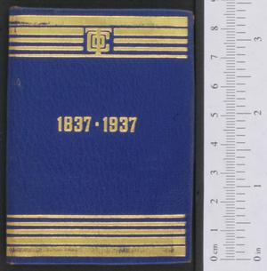 Primary view of object titled '[Calendar for 1937]'.