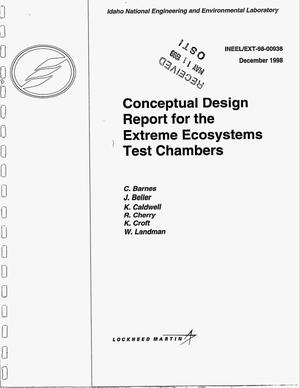 Primary view of object titled 'Conceptual Design Report for the Extreme Ecosystems Test Chambers'.